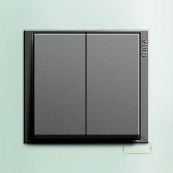 gira event opaque seledynowy antracytowy wy cznik podw jny wiecznikowy cznik. Black Bedroom Furniture Sets. Home Design Ideas