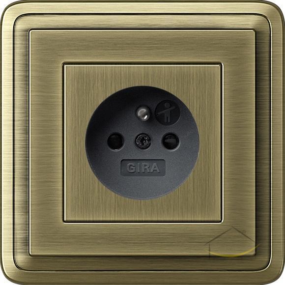 gira classix br z br z gniazdo br z czarny gniazdko wtykowe z bolcem ochronnym gira. Black Bedroom Furniture Sets. Home Design Ideas