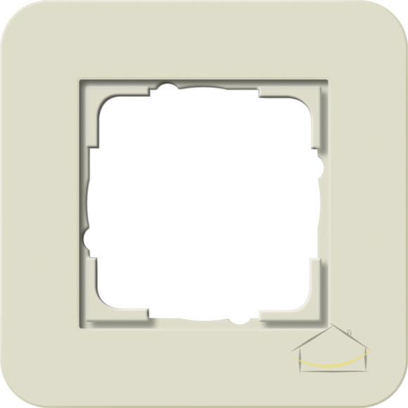 1ee4d0d9f3905e Ramka pojedyncza Gira E3 typu Soft Touch kolor piaskowy z podstawą biały  połysk nr. kat. 0211417
