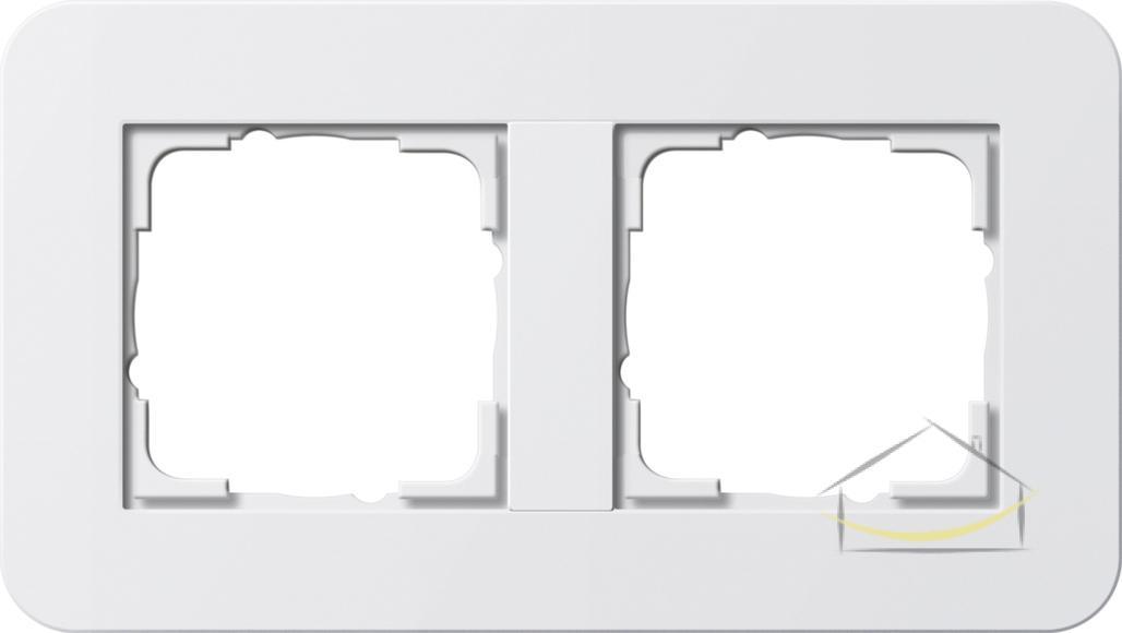9beab8f88476f7 Ramka podwójna Gira E3 kolor biały z połyskiem z podstawą biały połysk nr.  kat. 0212410