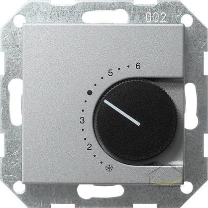 gira regulator temperatury pomieszczenia 230 v 10 a ze stykiem rozwiernym system 55 kolor alu. Black Bedroom Furniture Sets. Home Design Ideas
